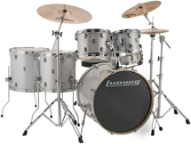 "Ludwig Element Evolution 6-pc Drumset with Zildjian ZBT Cymbals - 22"" - White Sparkle"