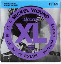 D'Addario EXL115 Nickel Wound Blues/Jazz Rock Electric Strings