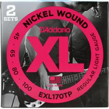 D'Addario EXL170TP Nickel Wound Long Scale Light Bass Strings 2-Pack