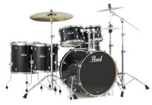 Pearl Export EXL 6-piece Rock Drum Set with Hardware - Black Smoke