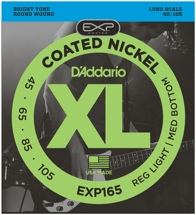 D'Addario EXP165 Coated Round Wound Long Scale Light Top/Medium Bottom Bass Strings