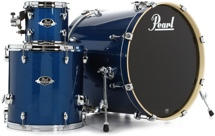 Pearl Export EXX 3-piece Add-on Kit with Hardware - Electric Blue Sparkle
