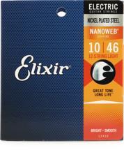 Elixir Strings 12450 Nanoweb Light 12-String Electric Guitar Strings