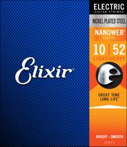 Elixir Strings 12077 Nanoweb Light Top Heavy Bottom Electric Guitar Strings