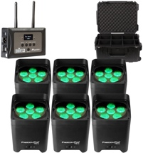 Chauvet DJ Freedom Par Tri-6 RGB Wireless Par Package w/ Case