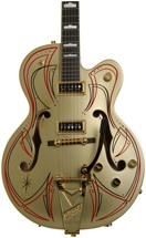 Gretsch G6120DS Gold Top Sweetwater Custom - Gold with Hot Rod Walt Pin Striping