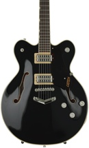 Gretsch G6609TFM Players Edition Broadkaster Center Block - Black, V-Stoptail
