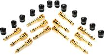 George Ls .155 Guitar Connector - Gold, Angled 12-pk
