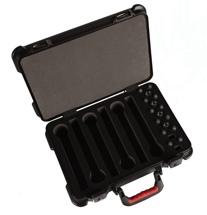 Gator GM-6W-TSA - ATA Molded Case for 6 Wireless Mics; TSA Latches