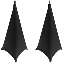 Gator GPA-Stand-2-B 2-pack - Stretchy Speaker Stand Covers (Black)