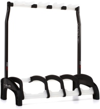 K&M Guardian 3+1 Multi-guitar Stand, Version 2 - Black w/Translucent Supports