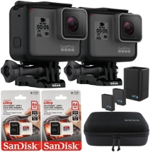 GoPro HERO5 Black 4K Camera 2-Pk Starter Bundle