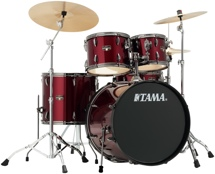 Tama Imperialstar Complete Drum Set - 5-piece - Vintage Red with Black Nickel Hardware
