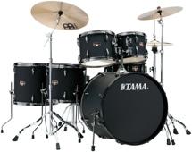 Tama Imperialstar Complete Drum Set - 6-piece - Black with Black Nickel Hardware