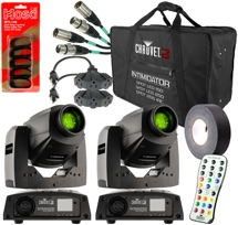 Chauvet DJ Intimidator Spot 255 IRC 2-Pack w/ Case & Cables