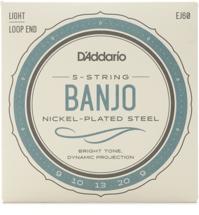 D'Addario J60 Nickel Wound Banjo Strings - .009-.020 Light 5-Str