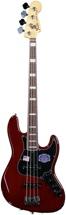 Fender American Deluxe Jazz Bass - Wine Transparent