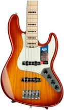 Fender American Elite Jazz Bass V - Tobacco Sunburst, Maple Fingerboard