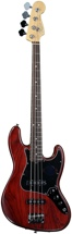 Fender American Standard Hand-stained Ash Jazz Bass - Wine Red FSR