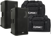 QSC K10 Speaker Pair with Totes