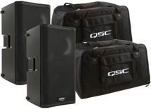 QSC K12 Speaker Pair with Totes