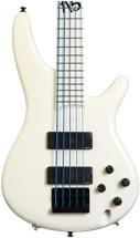 Ibanez K5WHLTDWC Fieldy Signature Bass - 20th Anniversary, 5 String, White
