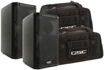 QSC K8 Speaker Pair with Totes