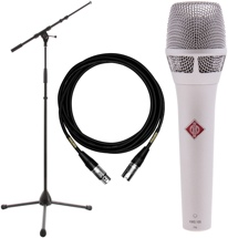 Neumann KMS 105 Microphone with Stand and Cable - Nickel