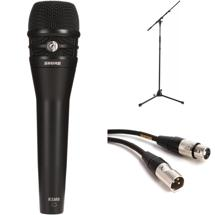 Shure KSM8B Handheld Microphone with Stand and Cable- Black