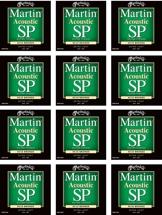 Martin MSP-3000 SP 80/20 Bronze Extra Light Acoustic Strings 12-Pack