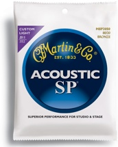 Martin MSP-3050 SP 80/20 Bronze Custom Light Acoustic Strings