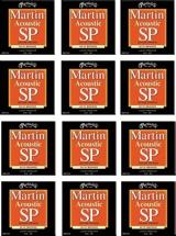 Martin MSP-3150 SP 80/20 Bronze Light/Medium Acoustic Strings 12-Pack