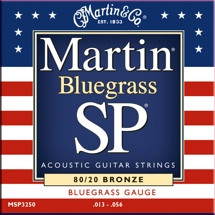 Martin MSP-3250 SP 80/20 Bronze Bluegrass Acoustic Strings
