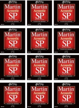 Martin MSP-4100 SP 92/8 Phosphor Bronze Light Acoustic Strings 12-Pack