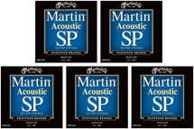 Martin MSP-4200 SP 92/8 Phosphor Bronze Medium Acoustic Strings 5-Pack