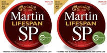 Martin MSP6100 SP Lifespan 80/20 Bronze Light Acoustic Strings 2-Pack