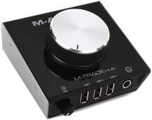M-Audio M-Track Hub 2-Ch USB Monitoring Interface and 3-Port USB Hub