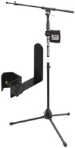 On-Stage Stands MS7701B Tripod Microphone Stand - Includes Stand + Drink Holder + Cable Hook, Black