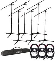 Gator Frameworks Rok-It Series Mic Stand 6-pack w/Cables and Bag
