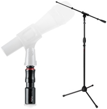 Gator Frameworks Mic Stand and Quick-release Mic Adapter Package