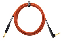 Orange Professional Cable - 10', Orange, Rt. Angle