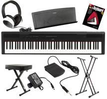 Yamaha P-115 Essential Keyboard Bundle - Black
