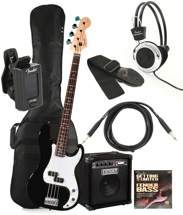 Squier Precision Bass Pack with Rumble 15 Amplifier - Black