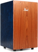 Pearl Eco-Acoustic Cajon - Blue w/Brown Faceplate