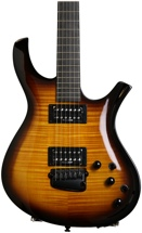 Parker PDF85 Carved Mahogany Body w/Ghost Piezo System - Flame Tobacco Burst