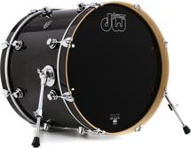 DW Performance Series Bass Drum - 16x20 - Ebony Stain Laquer