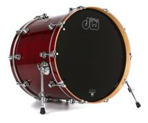 DW Performance Series Bass Drum  - 18x22 - Cherry Stain Lacquer