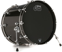 "DW Performance Series Bass Drum - 18""x22"" - Gun Metal Metallic"