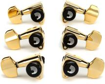 D'Addario Planet Waves Auto-Trim Locking Tuning Machine Heads - 3+3 - Gold