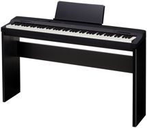Casio Privia PX-160 Digital Piano & Stand Bundle - Black